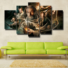 The Hobbit: The Battle of the Five Armies Movie 5 Piece Home HD Print Wall Art For Living Room Painting Wall Art Painting Canvas the intricate art of living afloat