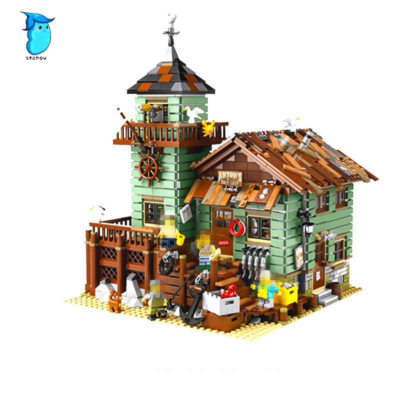 StZhou 16050 2109Pcs MOC Series The Old Finishing Store Children Educational Building LEPIN Blocks Bricks Toys Model Legoe the little old lady in saint tropez