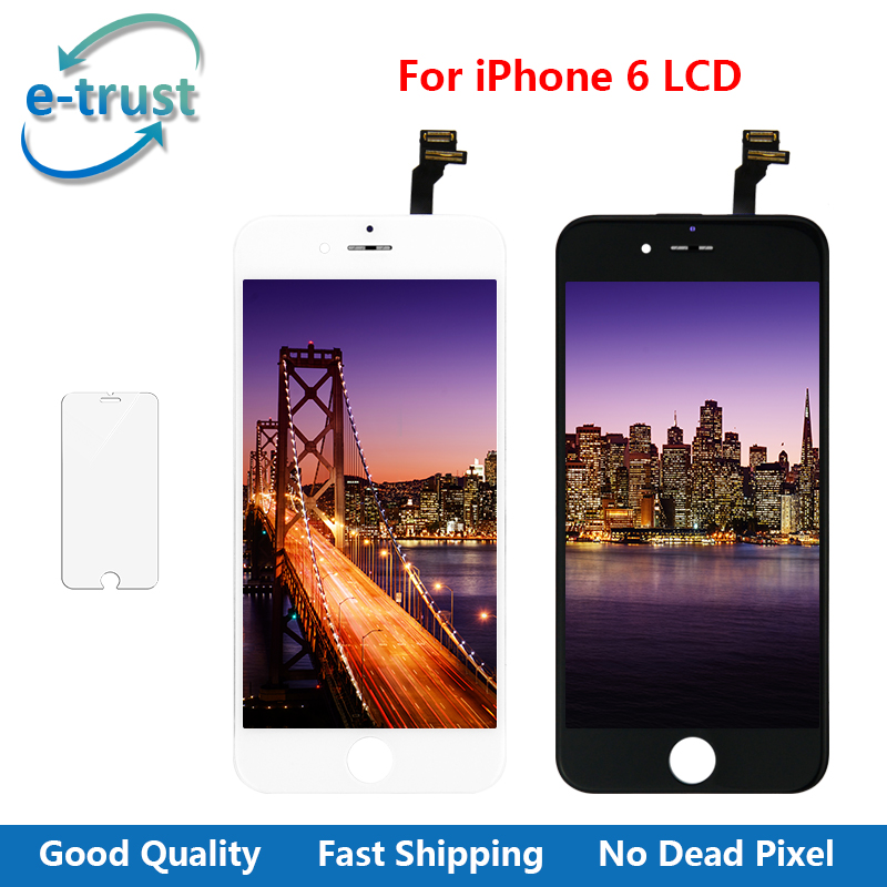 imágenes para La confianza electrónica Alibaba China Highscreen Clon Para iPhone 6 Pantalla Lcd Con Digitalizador Táctil de Cristal Asamblea del Reemplazo + Templado vidrio