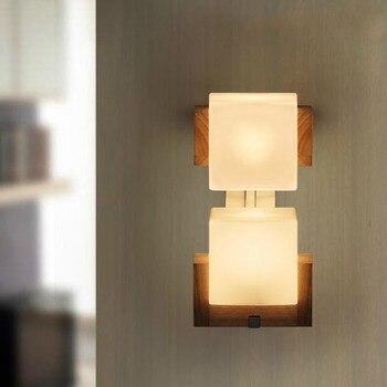 Krajem ameryki kinkiet kreatywny bar cafe kinkiet restauracja korytarz podwójna głowica dąb ściany lampa LU8131107