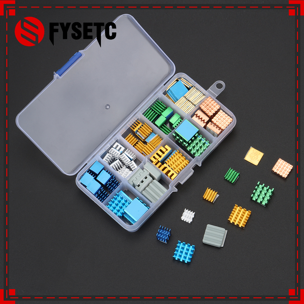 80pcs/set Blue Set Raspberry Pi 3B + Heat Sink Aluminum + Copper with Logo Cooling Pad disipador Heatsink for Raspberry Pi 3 B+ input 5000a frc 600 flexible rogowski coil with bnc connector output 500mv split core current transformer
