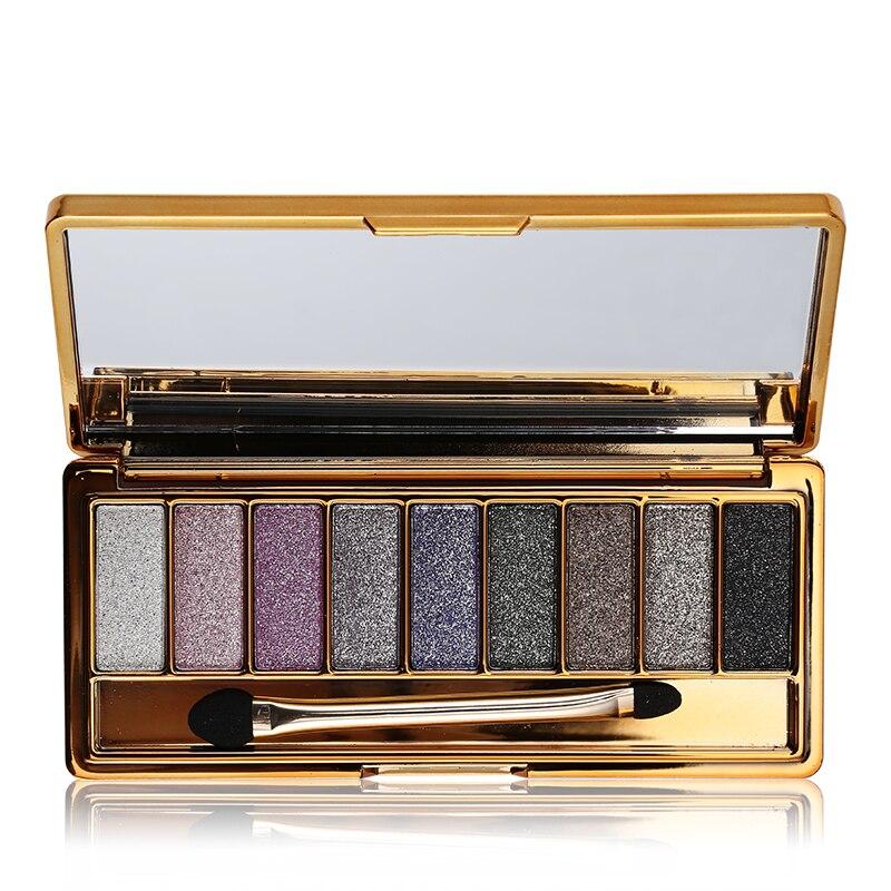 9 Colores Brillante Desnudo Diamante Maquillaje Ahumado Paleta de - Maquillaje - foto 3