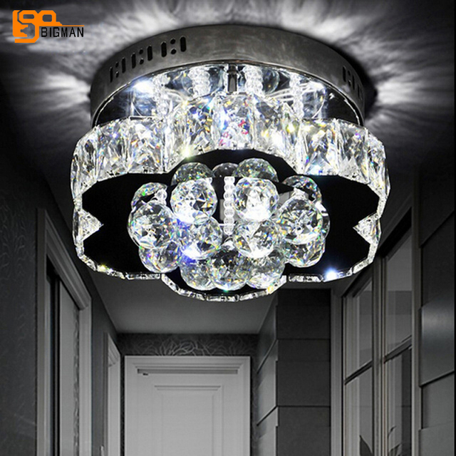 new lustre design LED ceiling light modern crystal lamps chrome ceiling lamp LED lights for home , AC110-240V,guaranteed 100%