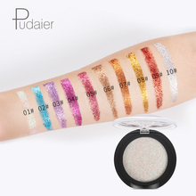 High quality Brand Pudaier 20 color glitters with stars, sparkling sequins, monochrome diamond eyeshadow