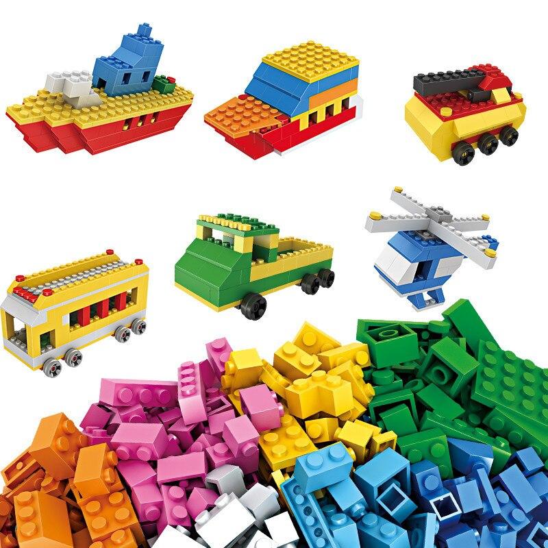 1000 Pcs Educational Building Bricks Set DIY Creative Bricks Toys For Child Gifts blocks 80pcs 2x2 basic high bricks 2 2 4 holes diy building blocks toys