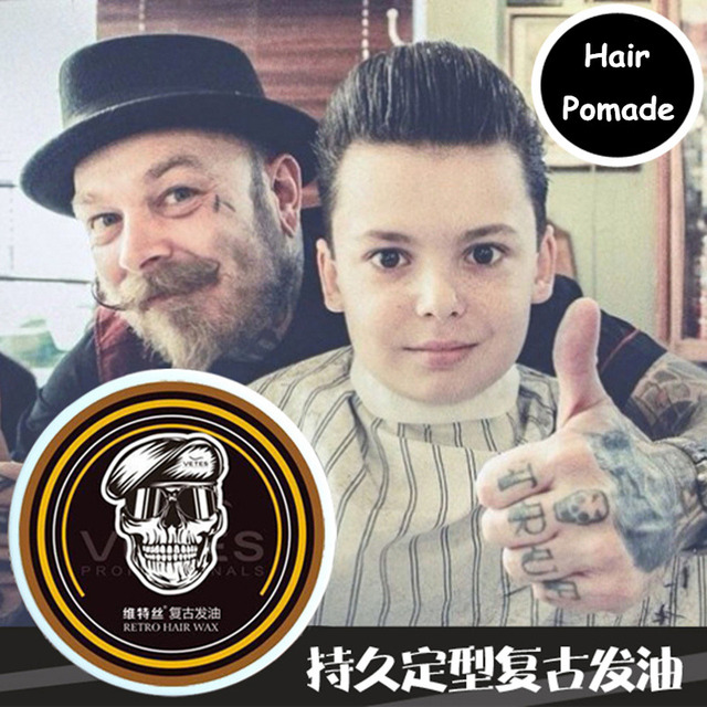 Vintage hair-oil male pomade long lasting moisturizing Styling Cream big gel hair...