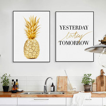 Pineapple Motivational Quotes Minimalist Nordic Poster Wall Art Canvas Painting Modern Picture Print Home Office Room Decoration