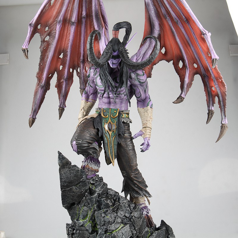 High-Quality Big 61CM World of Beast Demon Hunter Illidan Stormrage Game Characters Action Figure Toy Collection Edition world of warcraft wow resin action figure display toy doll illidan stormrage