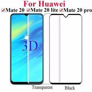 Image 5 - Mate 20 Lite Voll Gehärtetem Glas Für Huawei Mate 20 Lite Sne al00 Mate 20lite 6,3 Full Coverage Screen Protector Schutz film