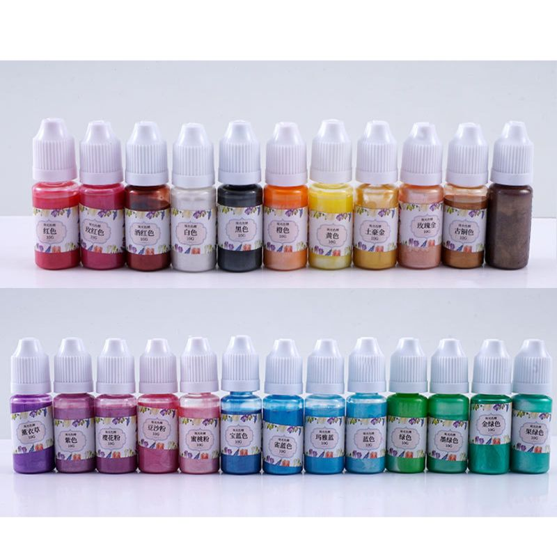 1 Bottle 10ml 10 Colors Liquid Pearl Resin Dyeing Pigment UV Resin Epoxy Resin DIY Making Crafts Jewelry Accessories