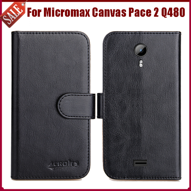 Hot Sale! For Micromax Canvas Pace 2 Q480 Case High Quality 6 Colors Fashion Leather Exclusive Protective Cover Phone Bag