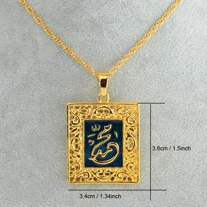 Image 3 - Anniyo Prophet allah halsketten anhänger für frauen Islamischen Schmuck Männer Gold Farbe lslam Muslime Arabisch Nahen Osten Schmuck