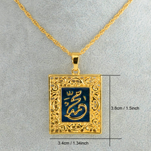 Prophet Muhammad necklaces pendant for women Islamic Jewelry Men  Gold Color lslam Muslims Arabic Middle East Jewelry