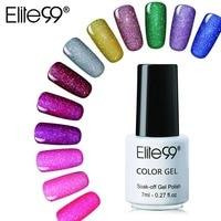 Elite99 7ml Neon Color Soak off UV Gel Varnish Long Lasting Rainbow Nail Gel Semi Permanent Nail Art Polish Gel All 12 Colors