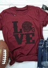 New Love Football Women T-shirts Tee Top Womens Fashion Female Tshirt T Tops Letter Classics Comfort Print Shirt