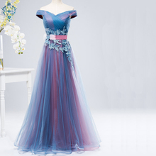 Ameision Long Evening Dress 2019 Boat Neck Special Oc n Dresses Gown Vestidos De Noche Largos Elegantes Fiesta Robe Soiree