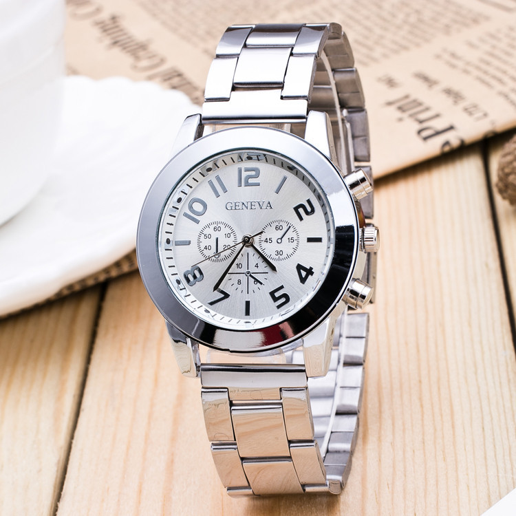 New Luxury Watch Fashion Stainless Steel Watch for Man Quartz Analog Wrist Watch Hot Sales1 hot sale new style sporting man watch hour timer round water resistant analog stainless steel wrist watch for men boy