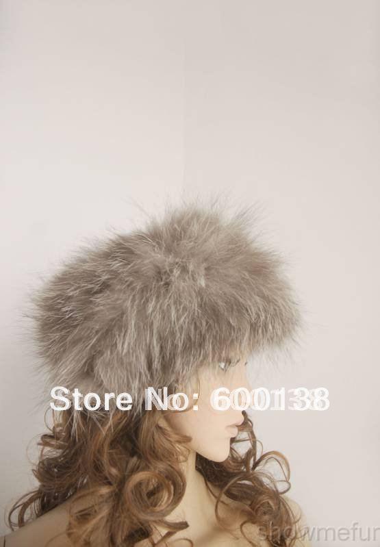 winter fox fur hair band fashion womens fox fur headband