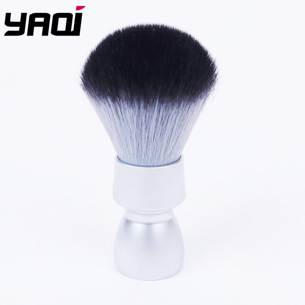 Yaqi Heavy Metal Handle Timber Wolf Synthetic Hair Tuxedo Knot Shave Brush For Men Shaving