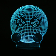 7 Colors Changing Lovely QQ Emoji Expression Smile 3D Effect Table Bedside LED Night Light Unique Home Decoration Lighting Gift