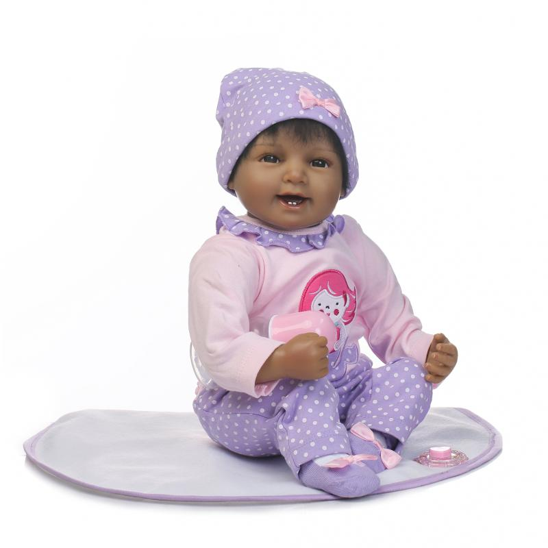 55cm Lifelike Reborn Baby Dolls Soft Vinyl Silicone Reborn Doll bebe reborn Accompanying doll Toys for Girls Children усилитель для наушников hifiman ef6