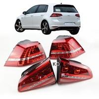 1Set Golf 7 Tail Light For VW Golf 2013 2016 MK7 Rear Light DRL Turn Signal