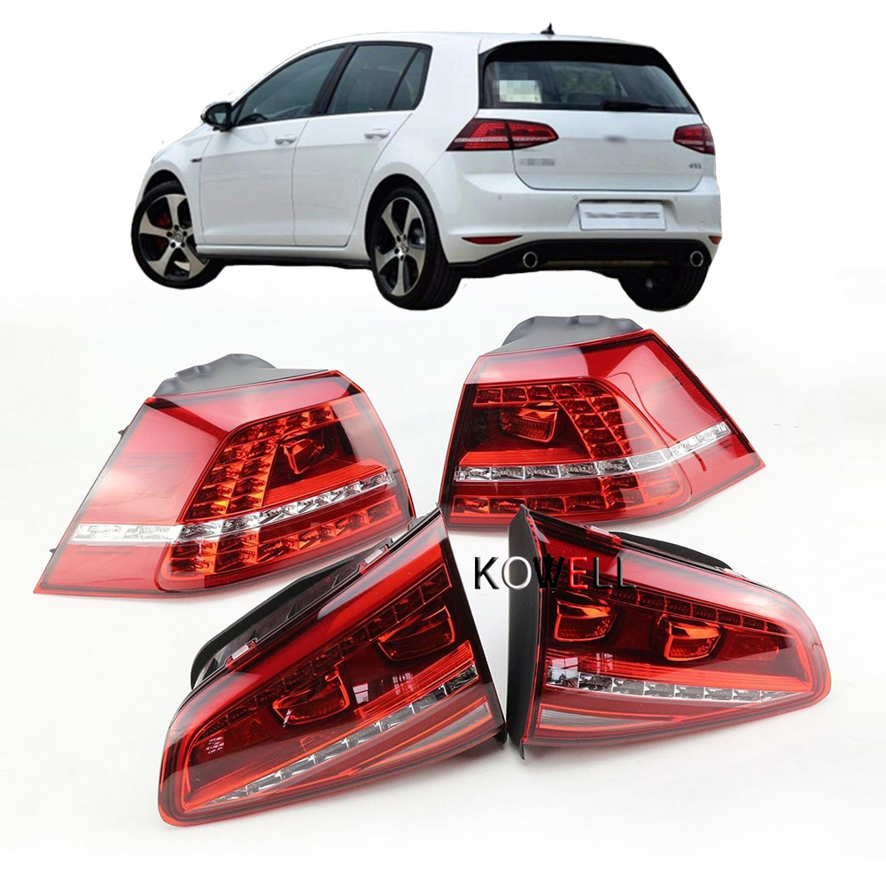 1Set Golf 7 Tail Light For VW Golf 2013-2016 MK7 Rear Light DRL+Turn Signal+Brake+Reverse 4pcs Led Car Tail Light 5G0945207 simulation mini golf course display toy set with golf club ball flag