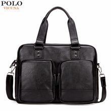 35f7ff2ed450 VICUNA POLO Promotion Big Size Men Travel Bags With Large Pockets High  Quality Black Leather Travel Bag Fashion Men Handbag Tote