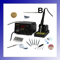 220V 110V 45W Temperature Control ESD Digital Soldering Station Rework Stations YIHUA 937D With Gifts