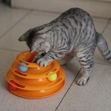 Interaktīvā izklaide Smieklīgi lolojumdzīvnieku rotaļlietas Cat Crazy Ball Disk Plate Atskaņot disku disku atskaņotāja kaķu rotaļlietas