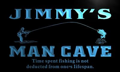x0099-tm Jimmys Man Cave Fishing Hole Custom Personalized Name Neon Sign Wholesale Dropshipping On/Off Switch 7 Colors DHL