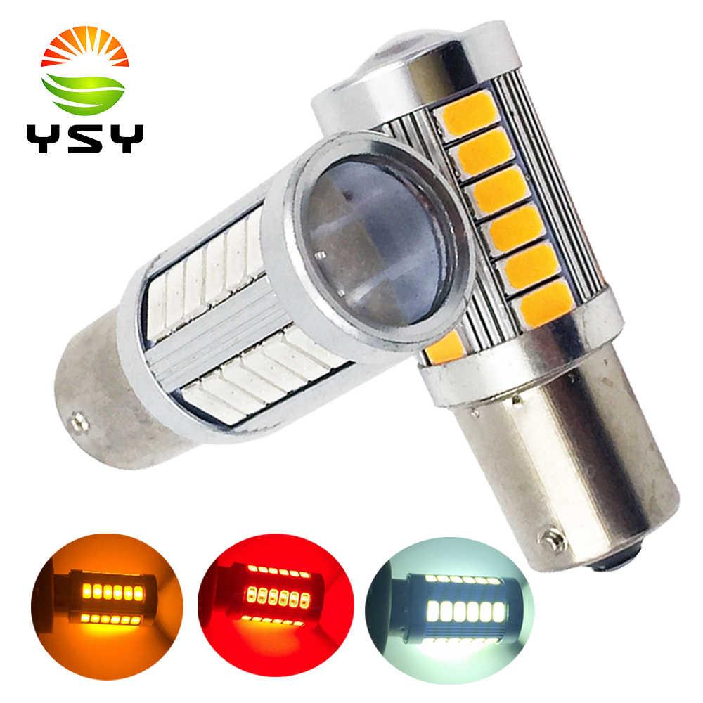 YSY 10X 1156 BA15S P21W 5630 5730 LED Car Tail Bulb Brake Lights auto Reverse Lamp Daytime Running Light red white yellow 12V