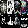 For iPhone 5S 5 Case Classic Audrey Hepburn Joke Shark Luxury Phone Back Cover for Apple iPhone 5 5s SE Coque Fundas