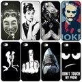 Para iphone 5s 5 caso clásico audrey hepburn broma lujo shark teléfono de la contraportada para apple iphone 5 5s se fundas coque