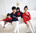 New arrival 2017 family matching clothes Mom/Dad/Baby Love Long-Sleeve Cotton T shirts spring/autumn Family Clothing sets