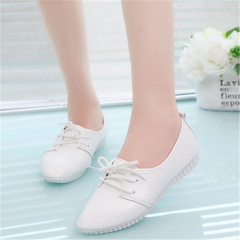 Women Flats 2018 Leather Summer Fashion Women flats Comfortable Shoes women Solid Lace-Up Shoes Female Footwear new leisure wedges women summer spring lace up fashion footwear female shoes comfortable women pumps ladies casual shoes dt1481