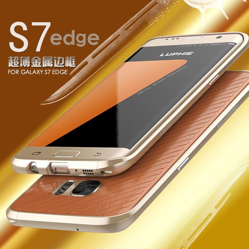 Цена за Luphie бренд S7 противоударный ультра тонкий встроенный eva металлический бампер для Samsung Galaxy S7 S7 край чехол