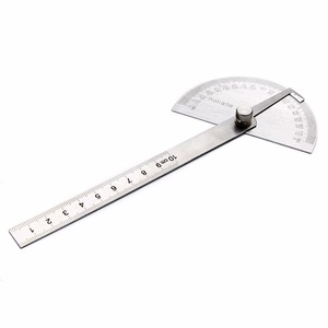 Image 5 - 1pc 180 Degree Adjustable Protractor Angle Finder Angle Ruler Round Head Rotary Stainless Steel Measuring Tool for Woodworking