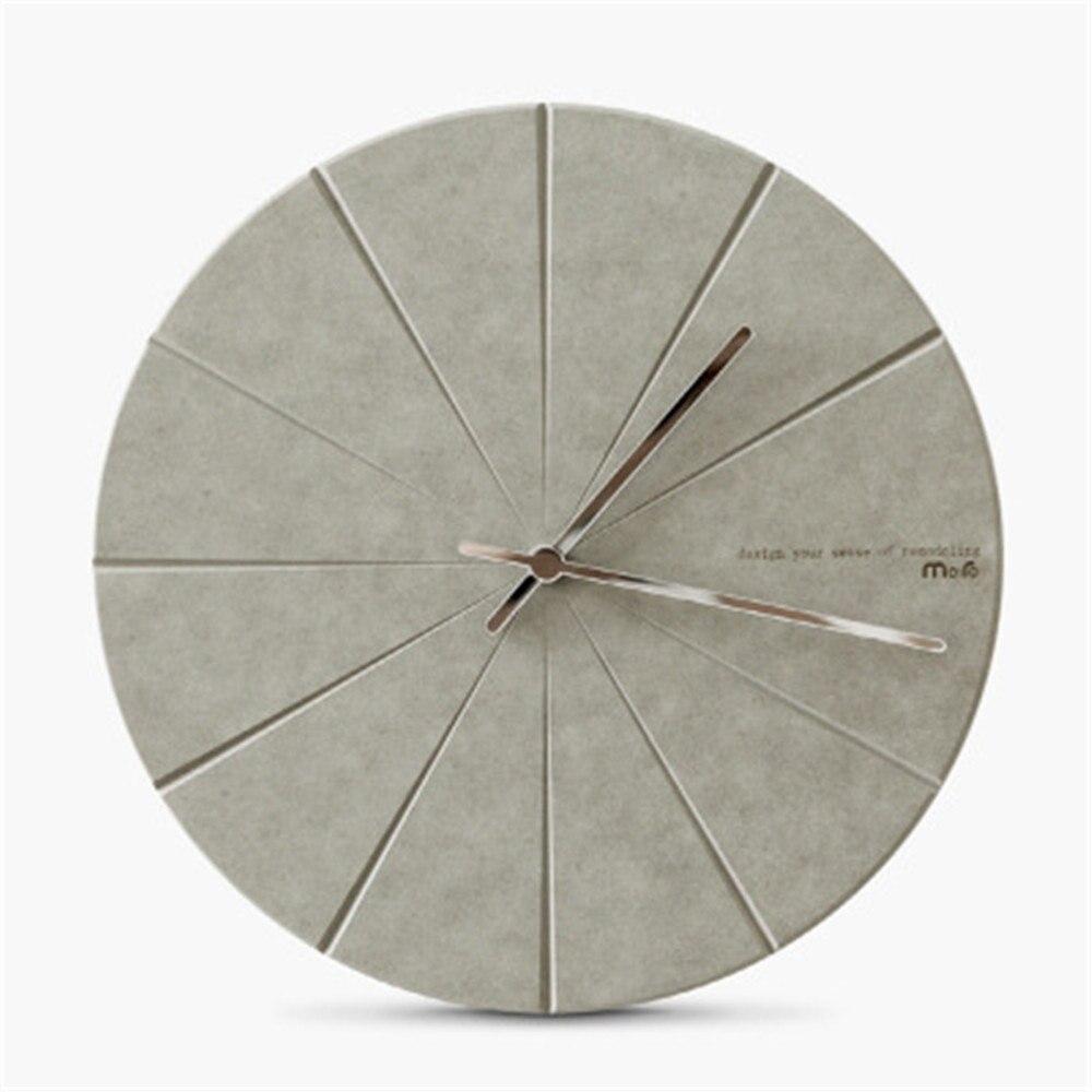 Modern Minimalist Pine Wood Wall Clock Advanced Vogue Exquisite Artistic Delicacy European Circular Silently Home Decor