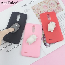 Squishy 3D Toys Phone Cat Case For LG K11 2018 K4 2017 Euro