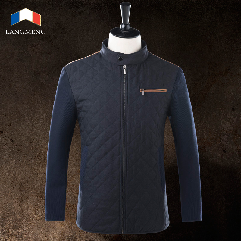 ФОТО Langmeng 2015 new arrival winter outwear men warm jackets men back stitching design jacket coats men brand casual jackets