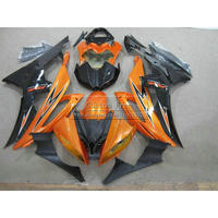 Injection mold high quality fairing kit For YAMAHA YZF R6 2008 2009 2013 2014 orange black YZFR6 08 14 body fairings set JL9