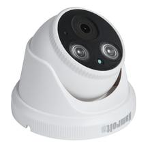 Hamrolte Onvif IP Camera 5MP Dome Indoor Camera Internal Microphone Nigthvision XMeye H.265 Low Storage DC12V POE48V Optional