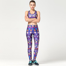Top hot Print Woman Yoga Sets Sports Quick Dry Tight Running Bra Ladies Pant Fitness Clothes Set Tennis Ball Badminton Suit