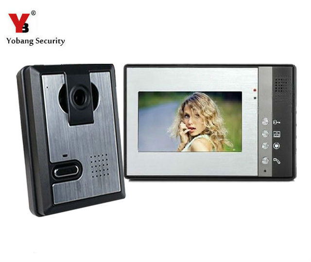 Yobang Security 7 Video Intercom Color Door Phone Night Vision Multi