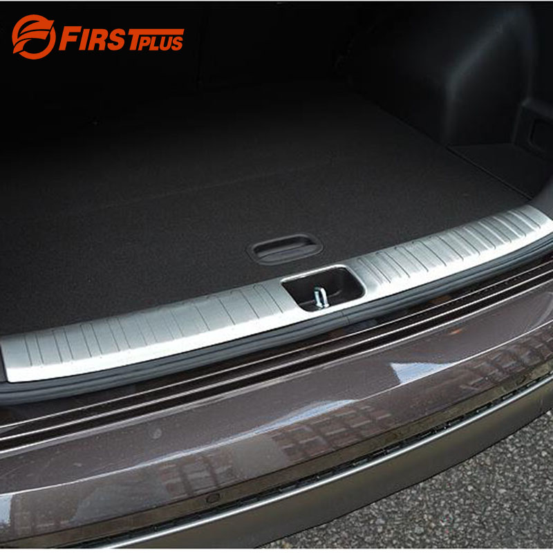 For Hyundai Tucson 3rd 2015 2016 2017 Car Rearguards Stainless Steel Rear Bumper Trunk Fender Sill Plate Protector Guard Covers for nissan x trail t32 2014 2018 car rearguards stainless steel rear bumper trunk fender sill plate protector guard covers trim
