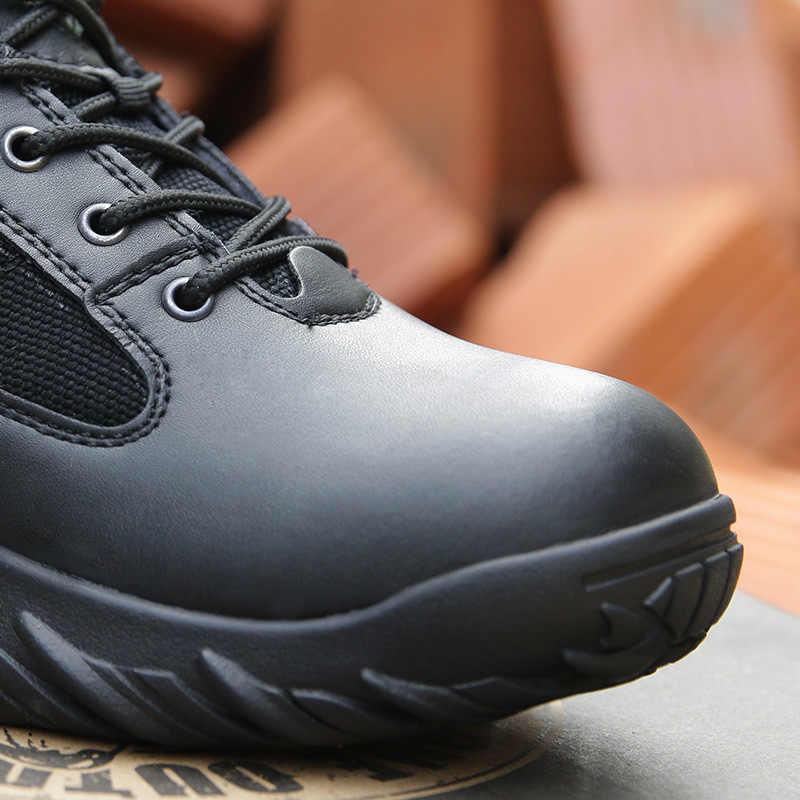 Odkryty Trekking piesze wycieczki buty mężczyźni kobiety wojskowe taktyczne buty wojskowe lekki wspinaczka Camping górskie antypoślizgowe trampki