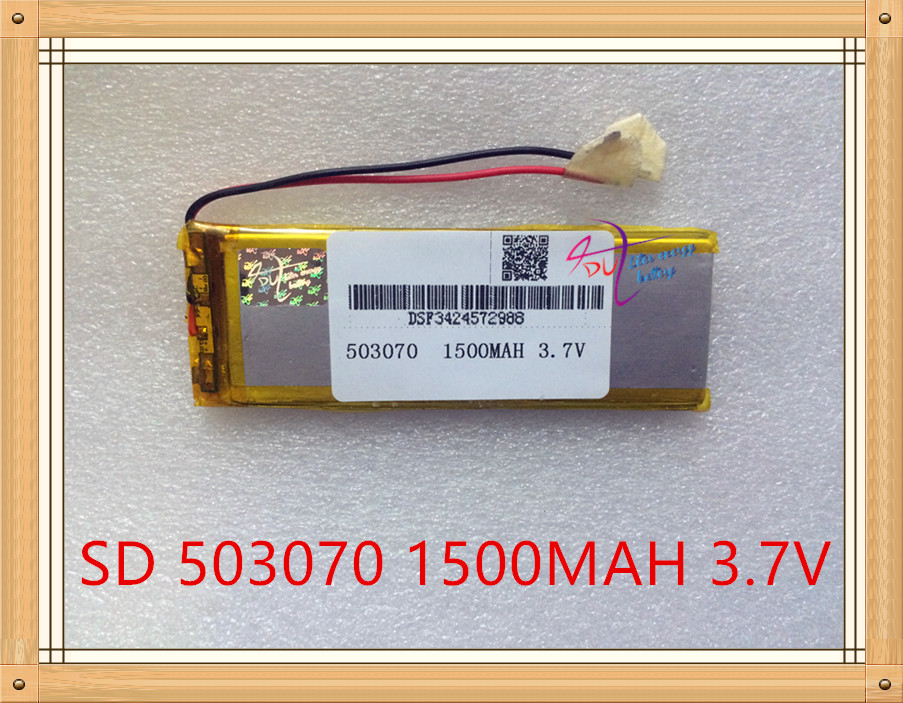 Liter energy battery 3.7V polymer lithium battery 503070 MP4 MP5 1500MAH game machine driving recorder