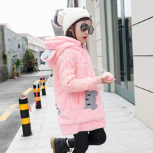Girl's Winter imitation fur coat 2017 Girls Faux fur coat children baby clothes Kid Thick Plus velvet coat Wholesale