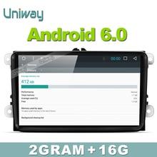 Uniway 2G + 16G 2 din android dvd de voiture pour vw passat b5 b6 golf 4 5 tiguan polo skoda octavia fabia rapide multimédia gps lecteur